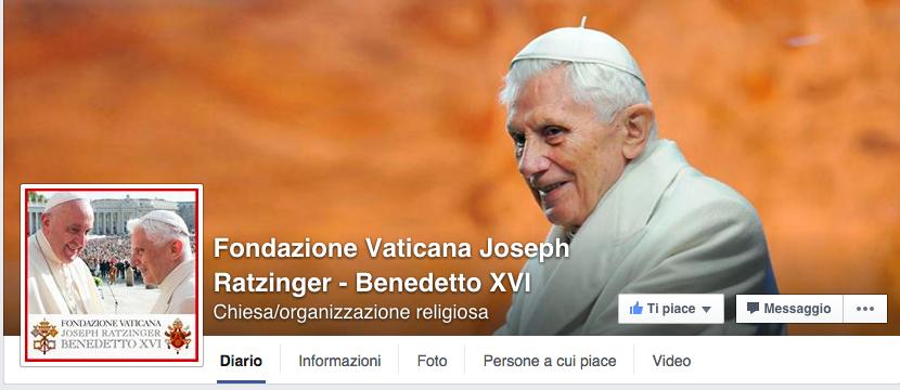 La pagina Facebook ufficiale della Fondazione Vaticana Joseph Ratzinger - Benedetto XVI