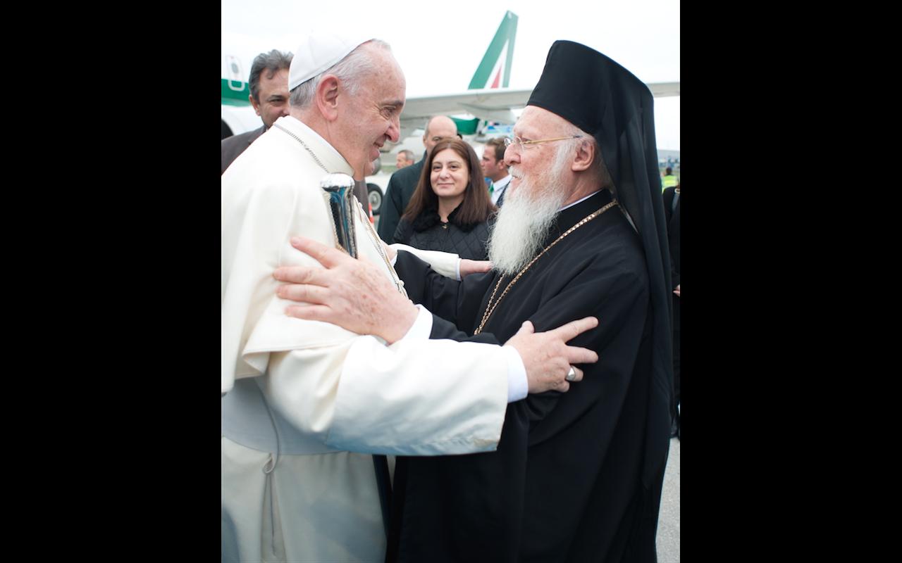 Pope Francis and patriarch Bartolomeo