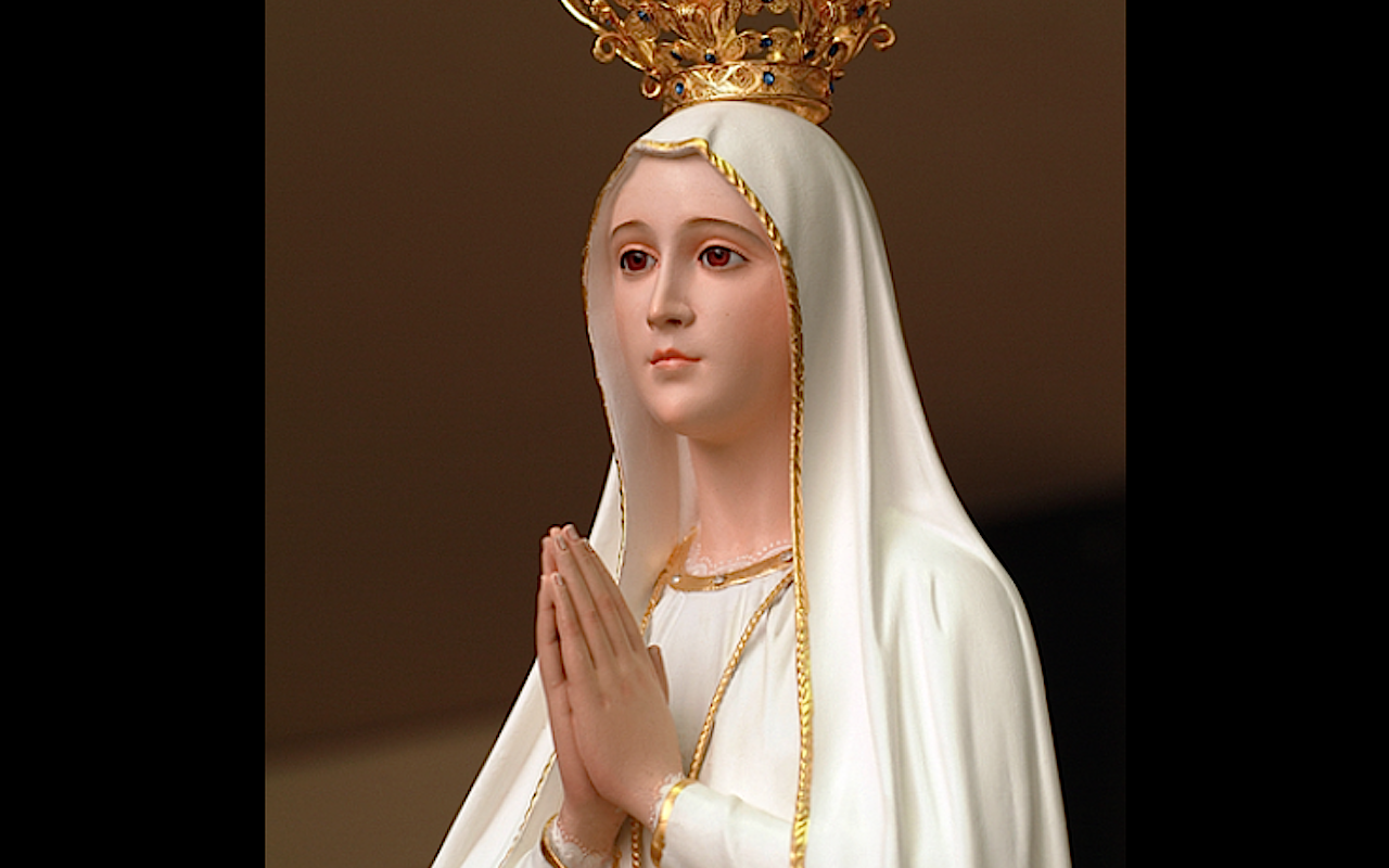 Statue of Our lady of Fatima in the Portugal sanctuary