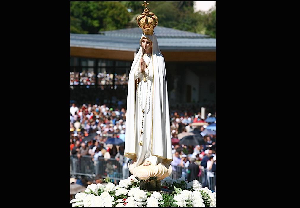Our Lady of Fatima pilgrim in the sanctuary