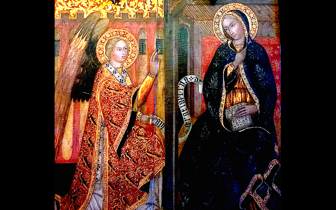 The Annunciation at the blessed Virgin Mary
