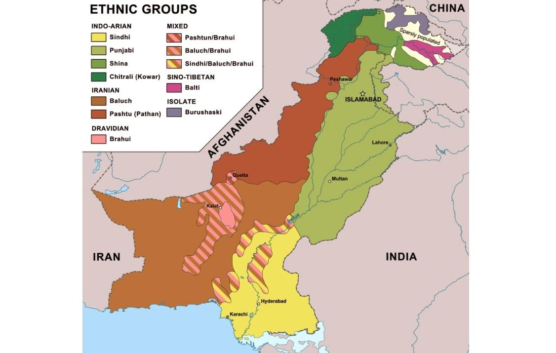Pakistan ethnic map