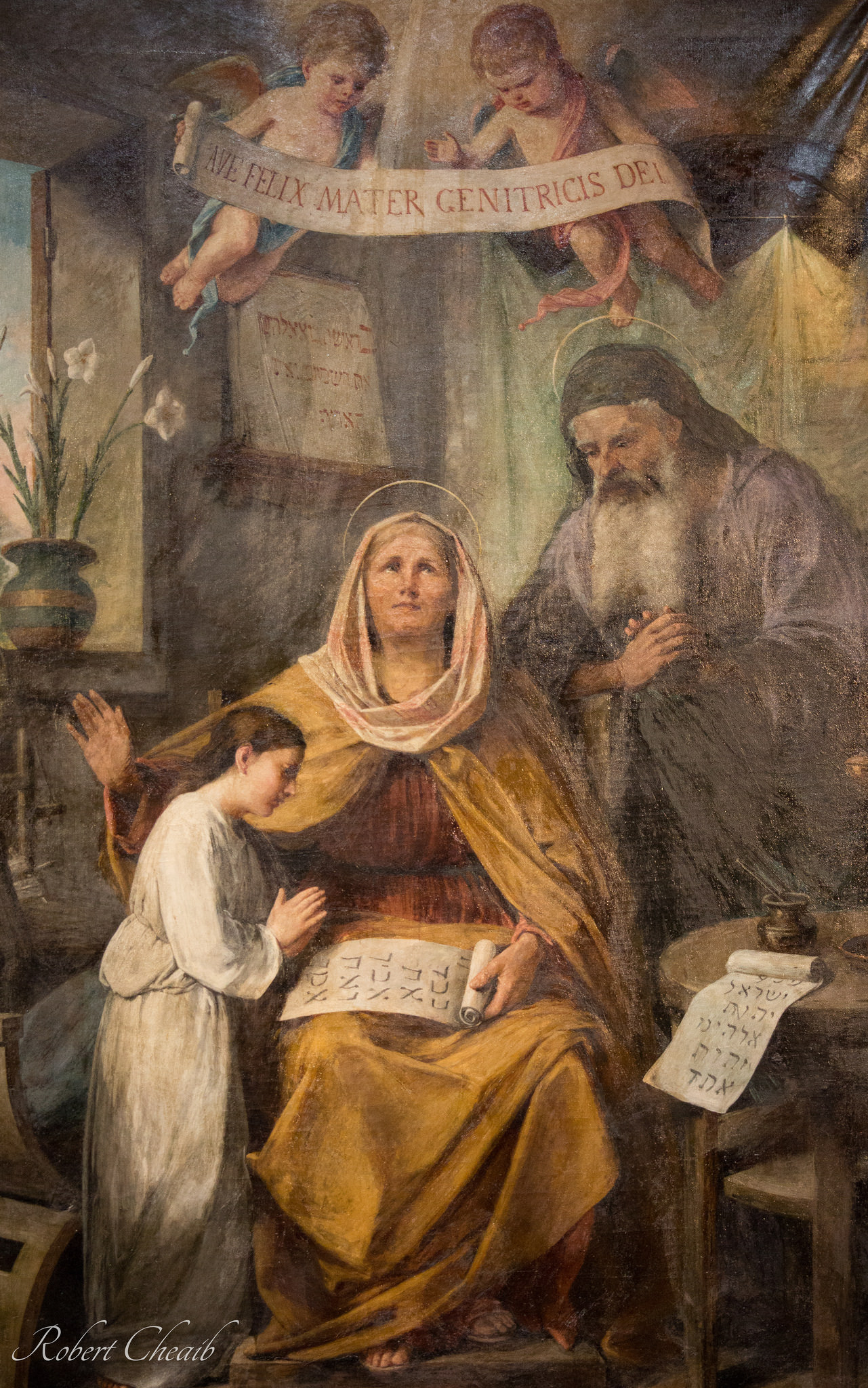 Mary reading Scriptures