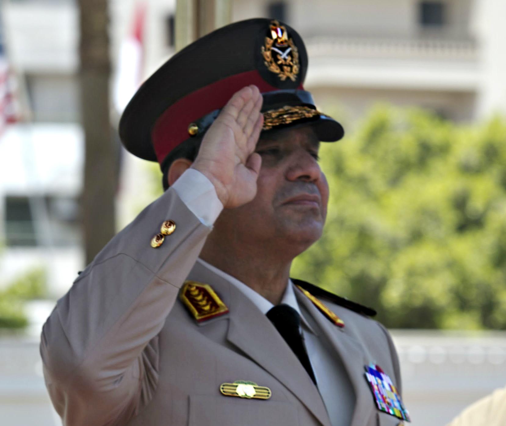Current Egyptian President Abdel Fatah Al Sisi (°1954)(Photo: 24 April 2013)