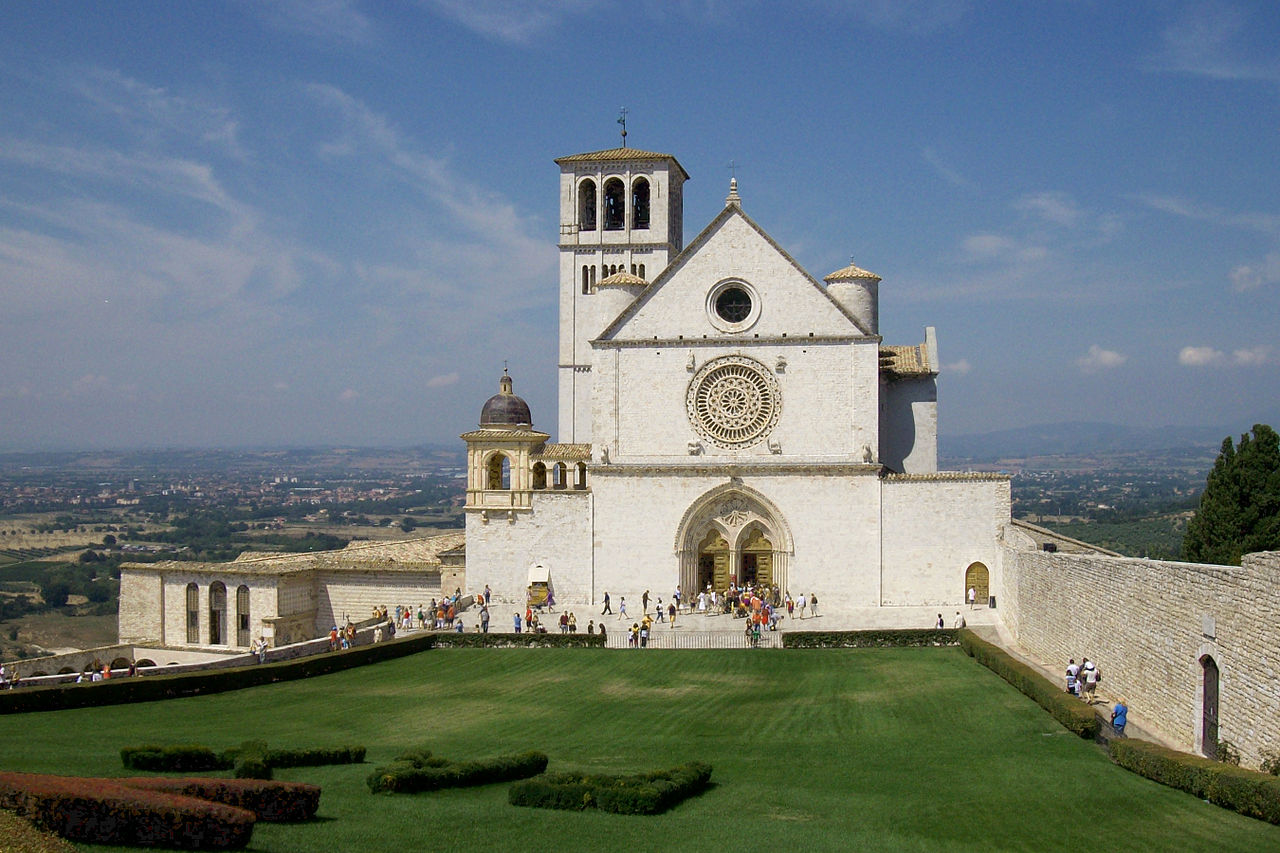 Front view of the upper Basilica of St. Francis of Assisi