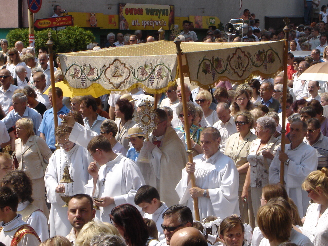 The Blessed Sacrament exposed in procession in Poland