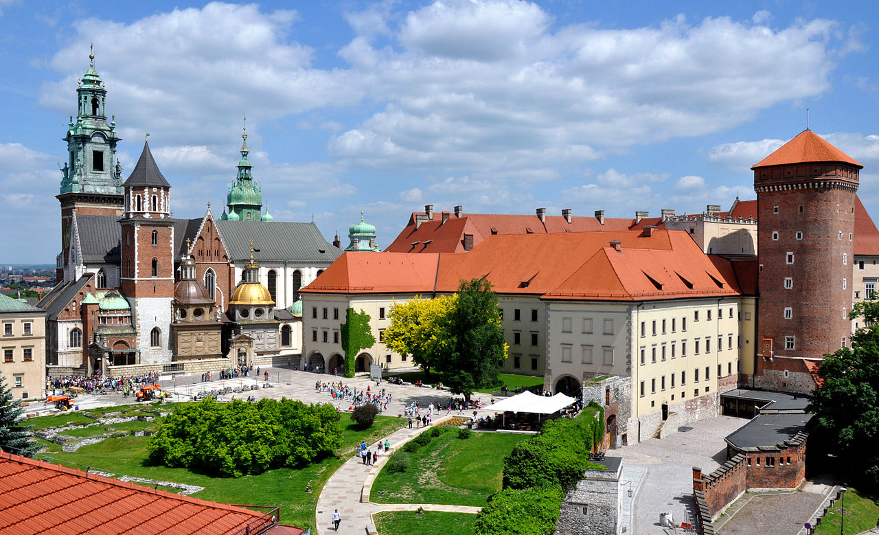 The Wawel Castle and Cathedral in Krakow