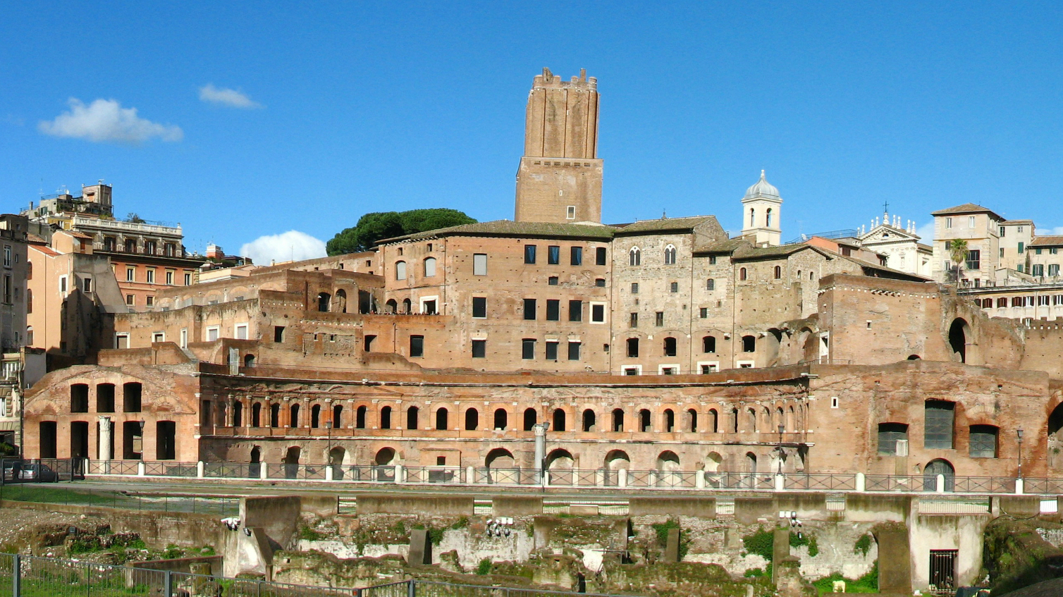 Trajan's Forum (Latin: Forum Traiani) was the last of the Imperial fora to be constructed in ancient Rom