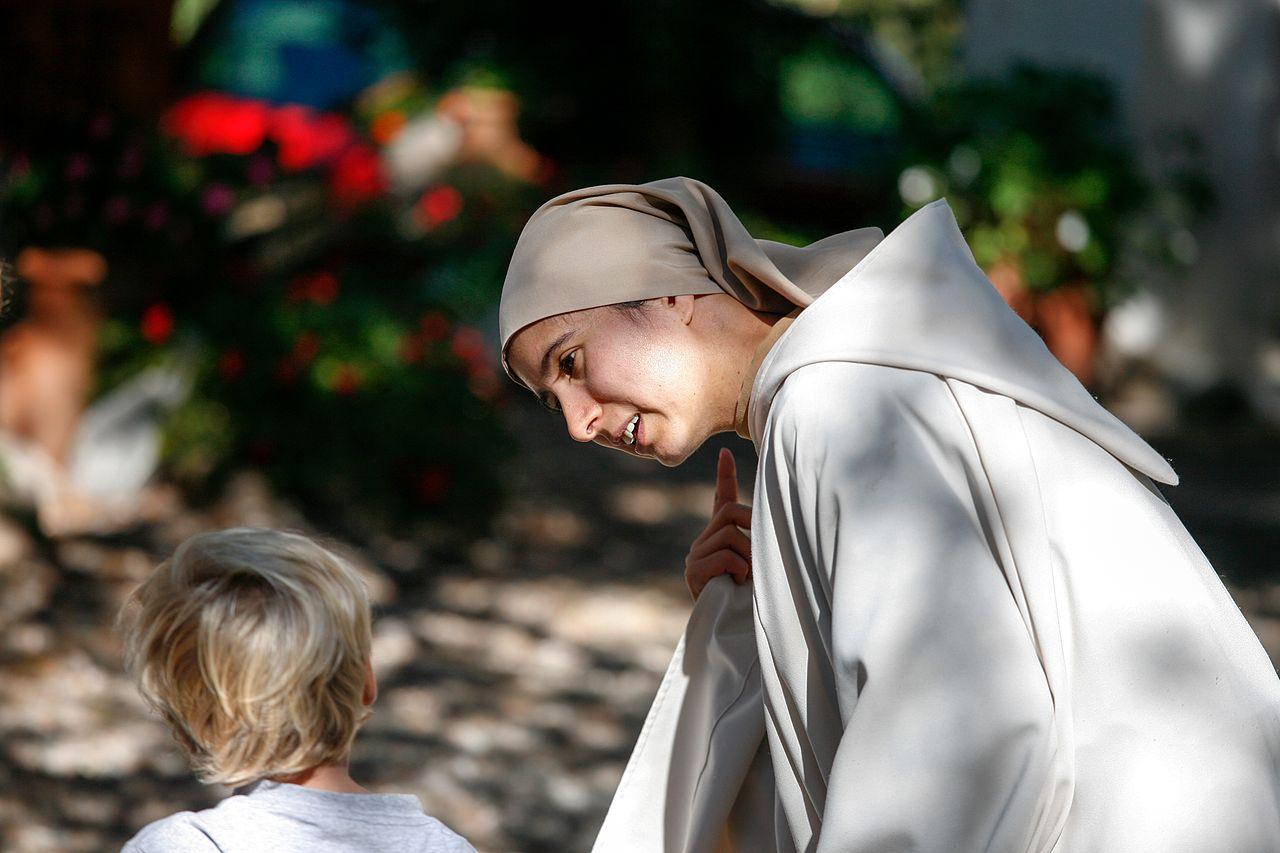 A young religious sister or nun