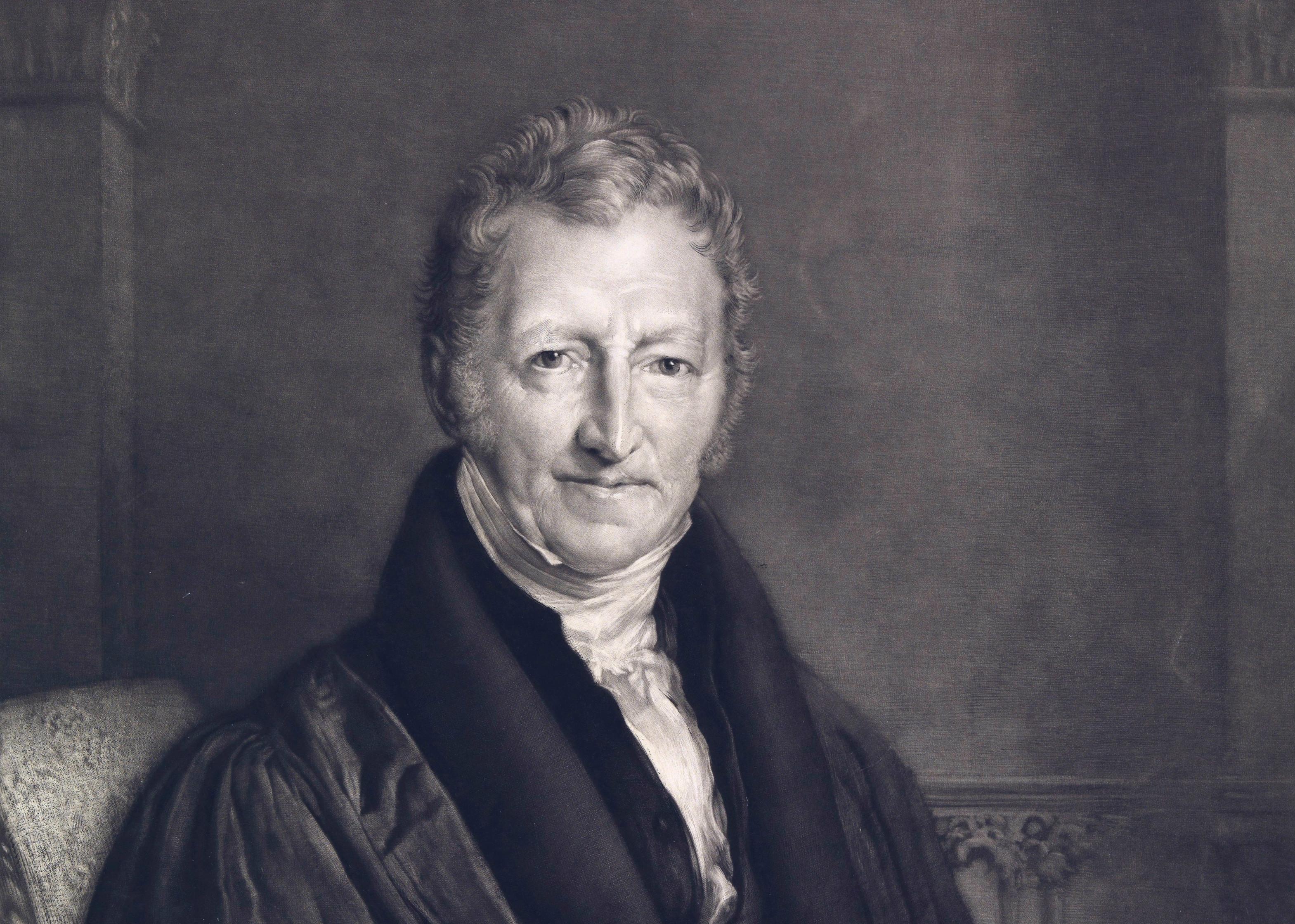 The english cleric and scholar Thomas Robert Malthus (1766 – 1834)