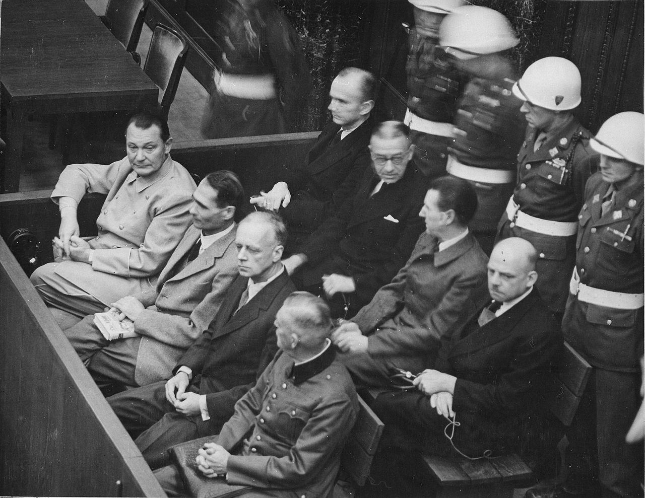Nuremberg Trials. Defendants in their dock