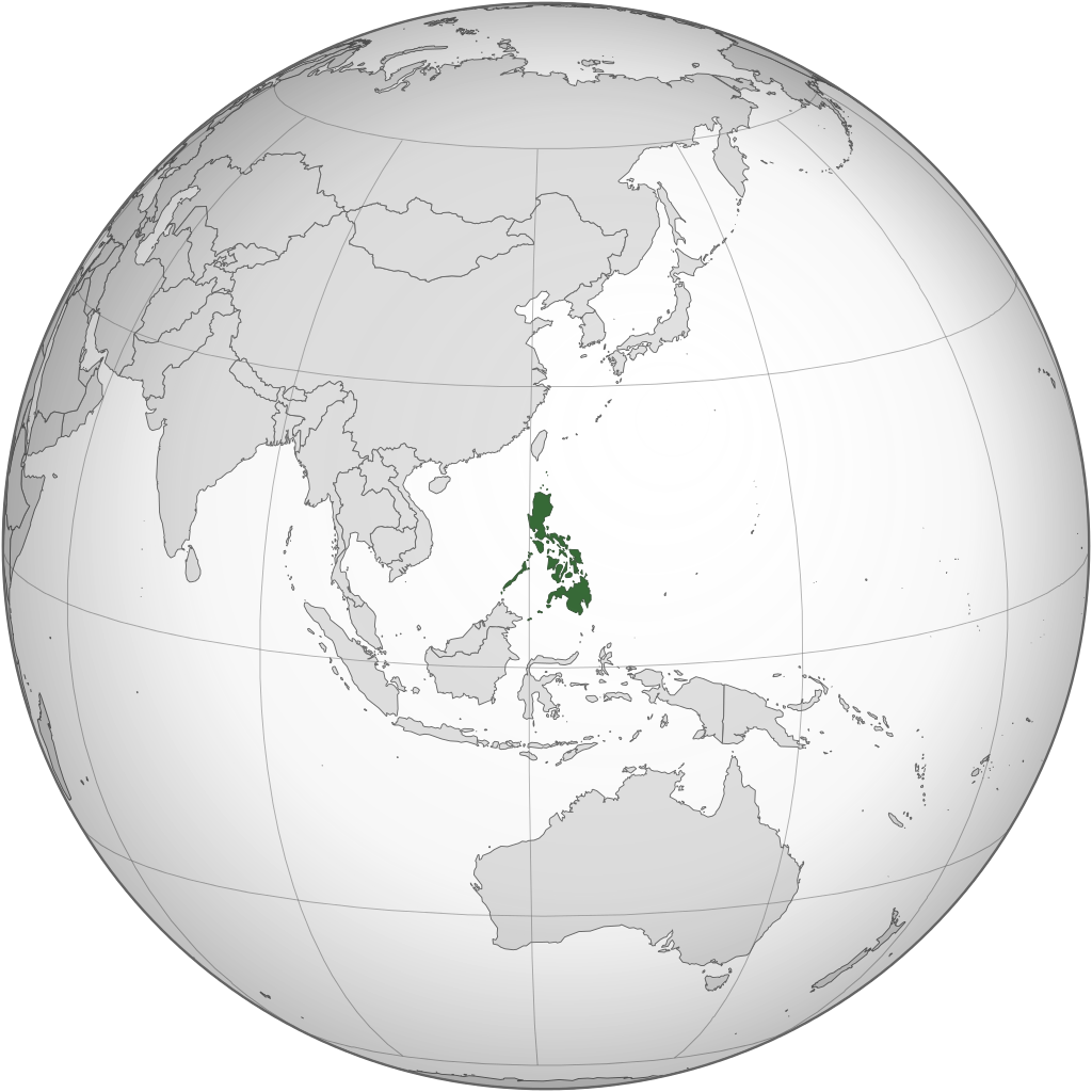 Map of Philippines (orthographic projection)