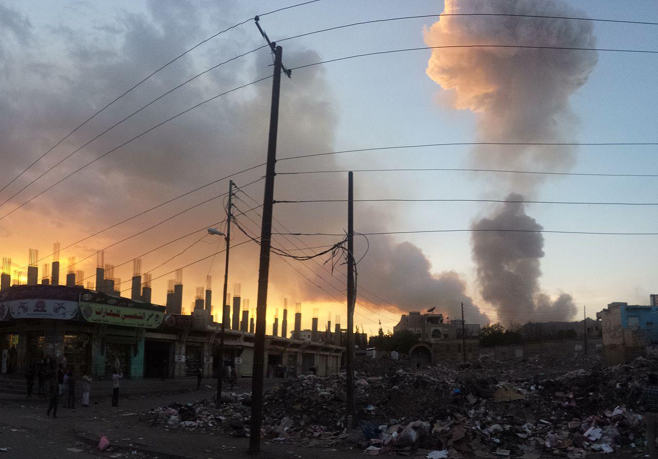 Air strike in the capital of Yemen