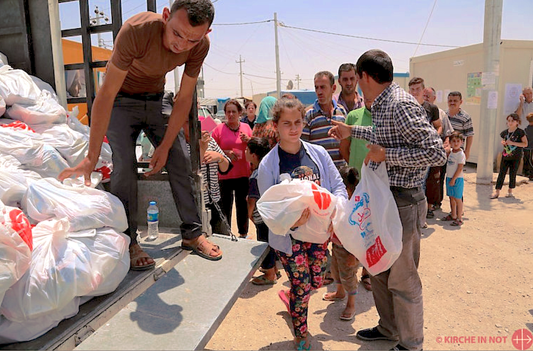 Food aid by ACN for 13 000 families of refugees in Erbil