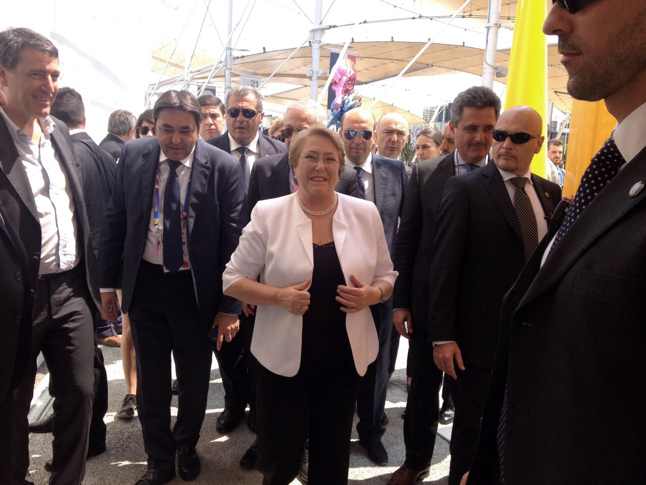 President of Chile Michelle Bachelet at Expo Milan 2015