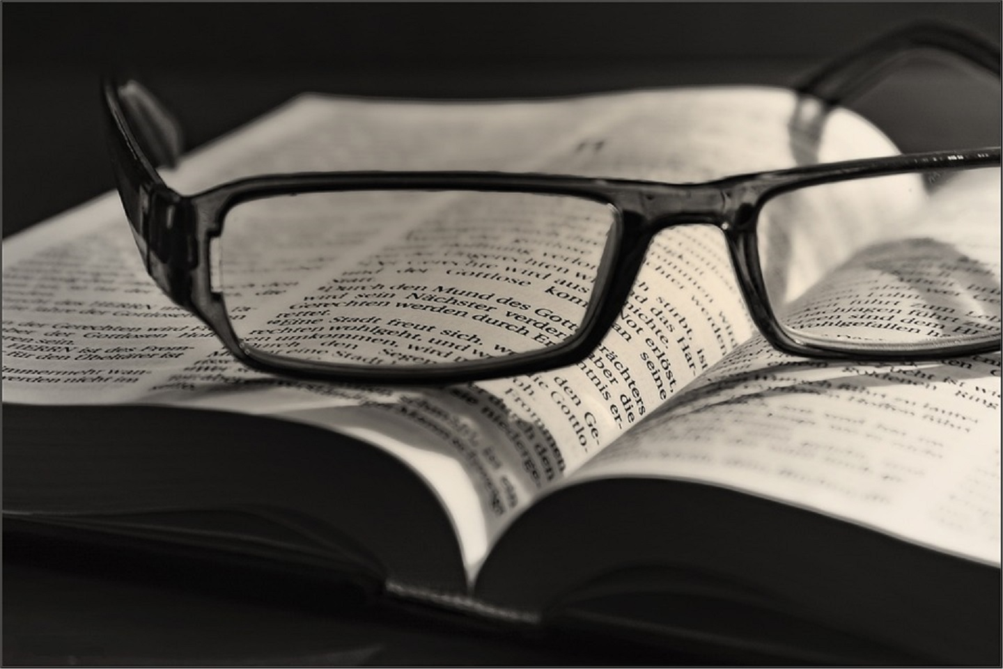 Glasses over the Bible