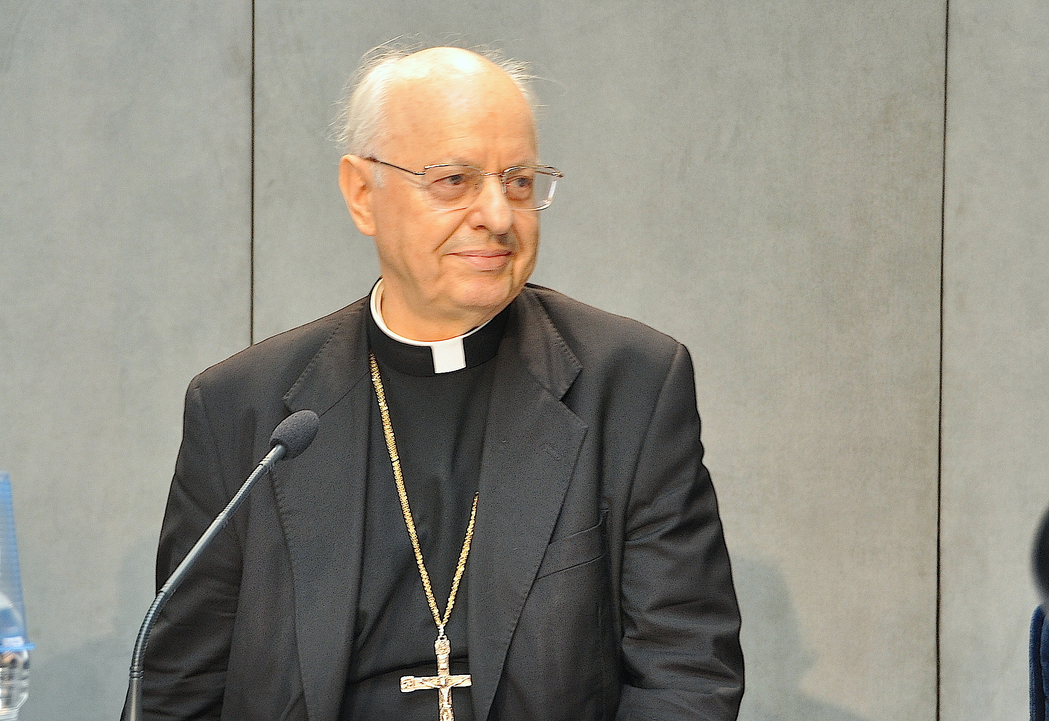 Cardinal Lorenzo Baldisseri in the press room of Holy See  - 2015 june 23