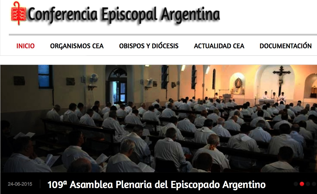 The web of the Argentinian Bishops Conference