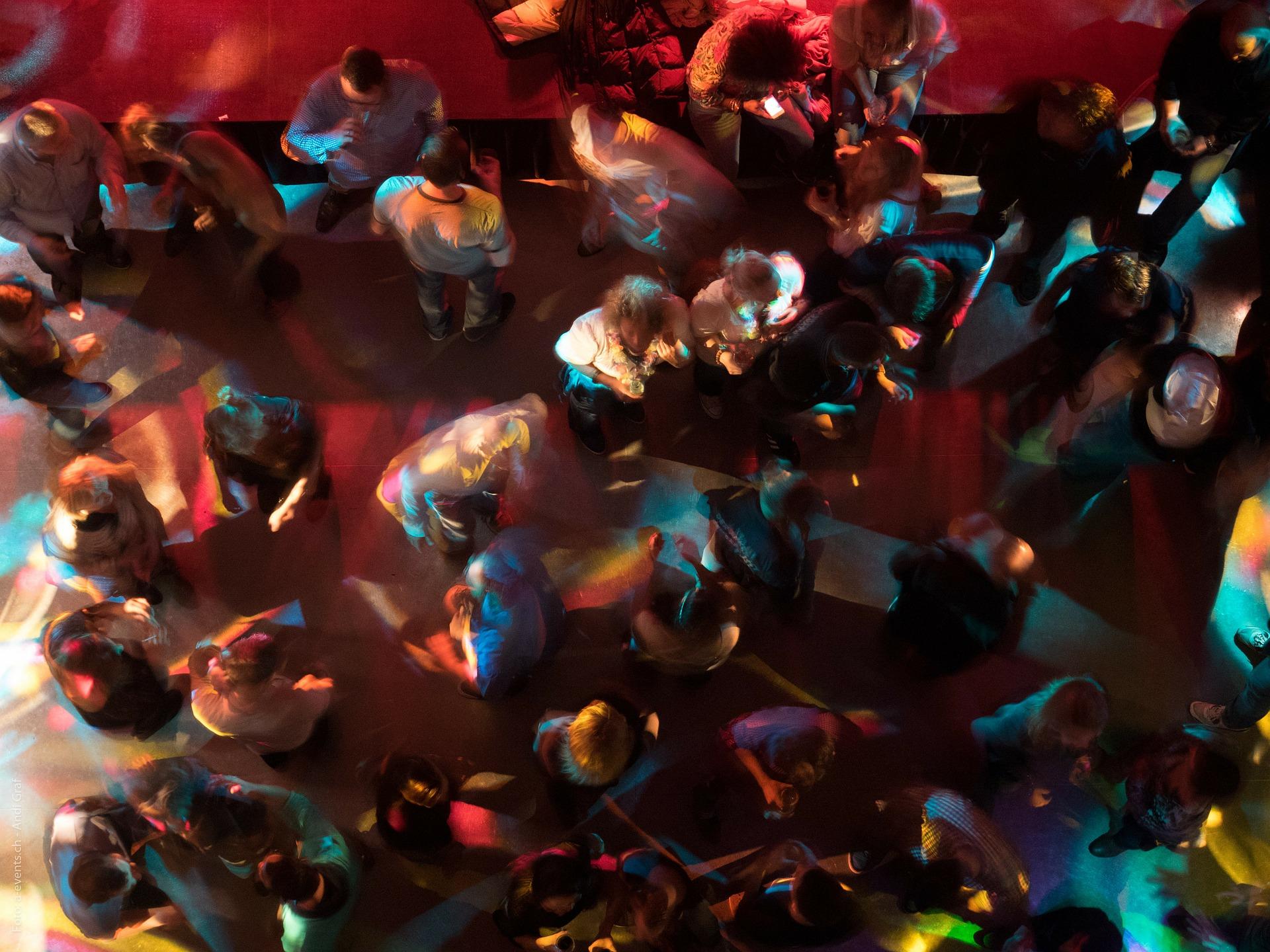 Youth having fun in a discobar