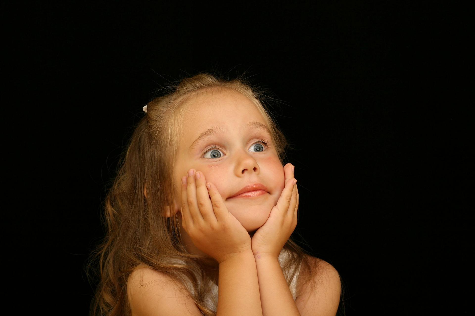 Astonished little girl