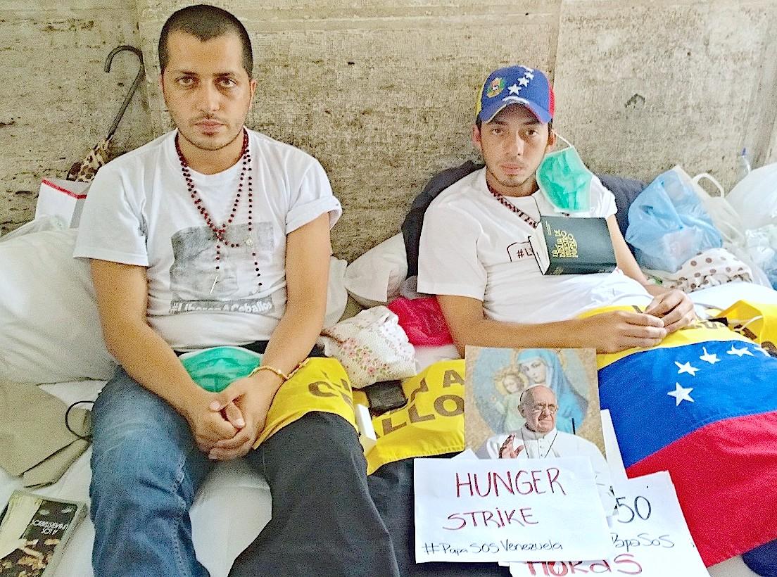 Venezuelan Martin Paz  and José Vicente Garcia hunger strike