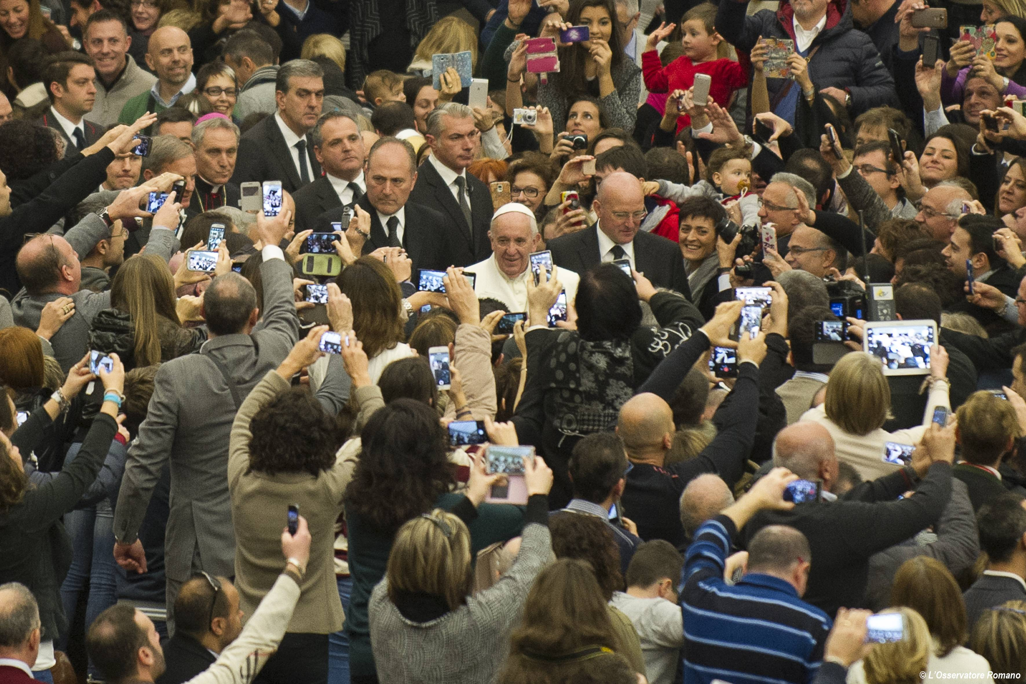Pope Francis received managers
