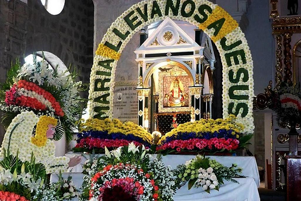 Imagen de la Virgen del Quinche en Roma