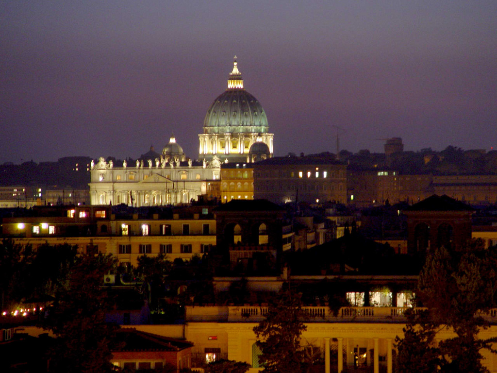 Saint Peter's basilica - view from the Pincio Hill