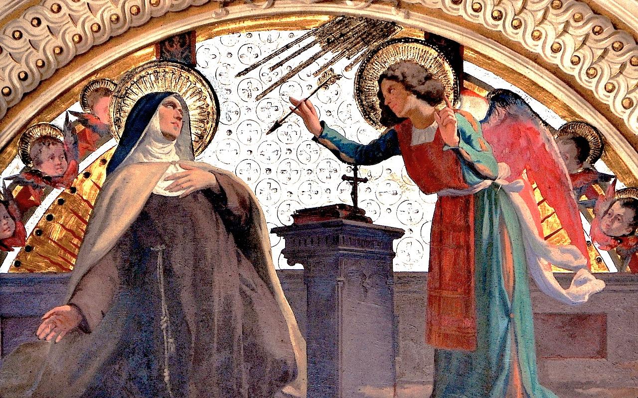 Saint Teresa of Jesus - At roman church of San Gioacchino in Prati