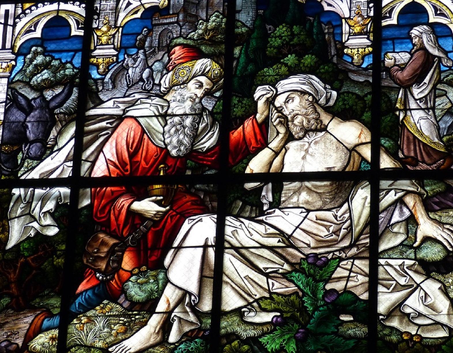 Good Samaritan - window of a Church
