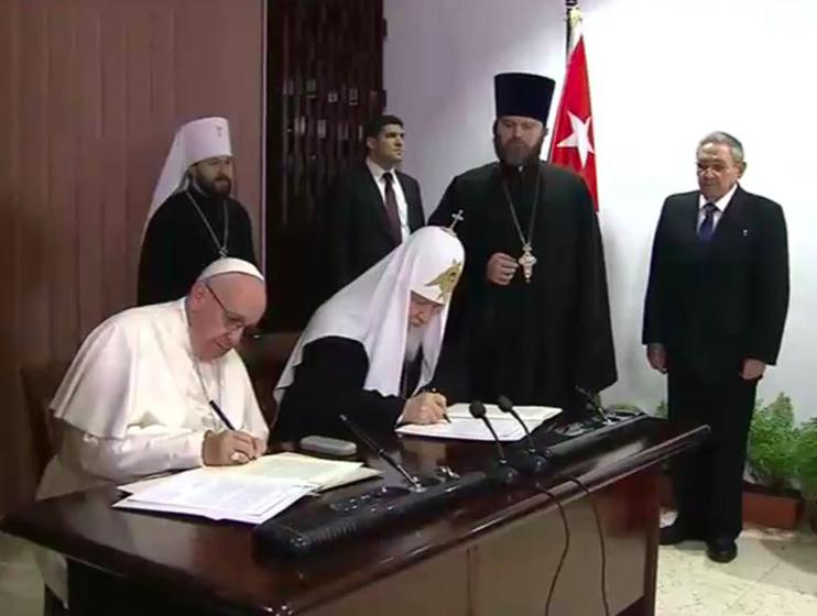 Papa-Kirill: firma Dichiarazione congiunta
