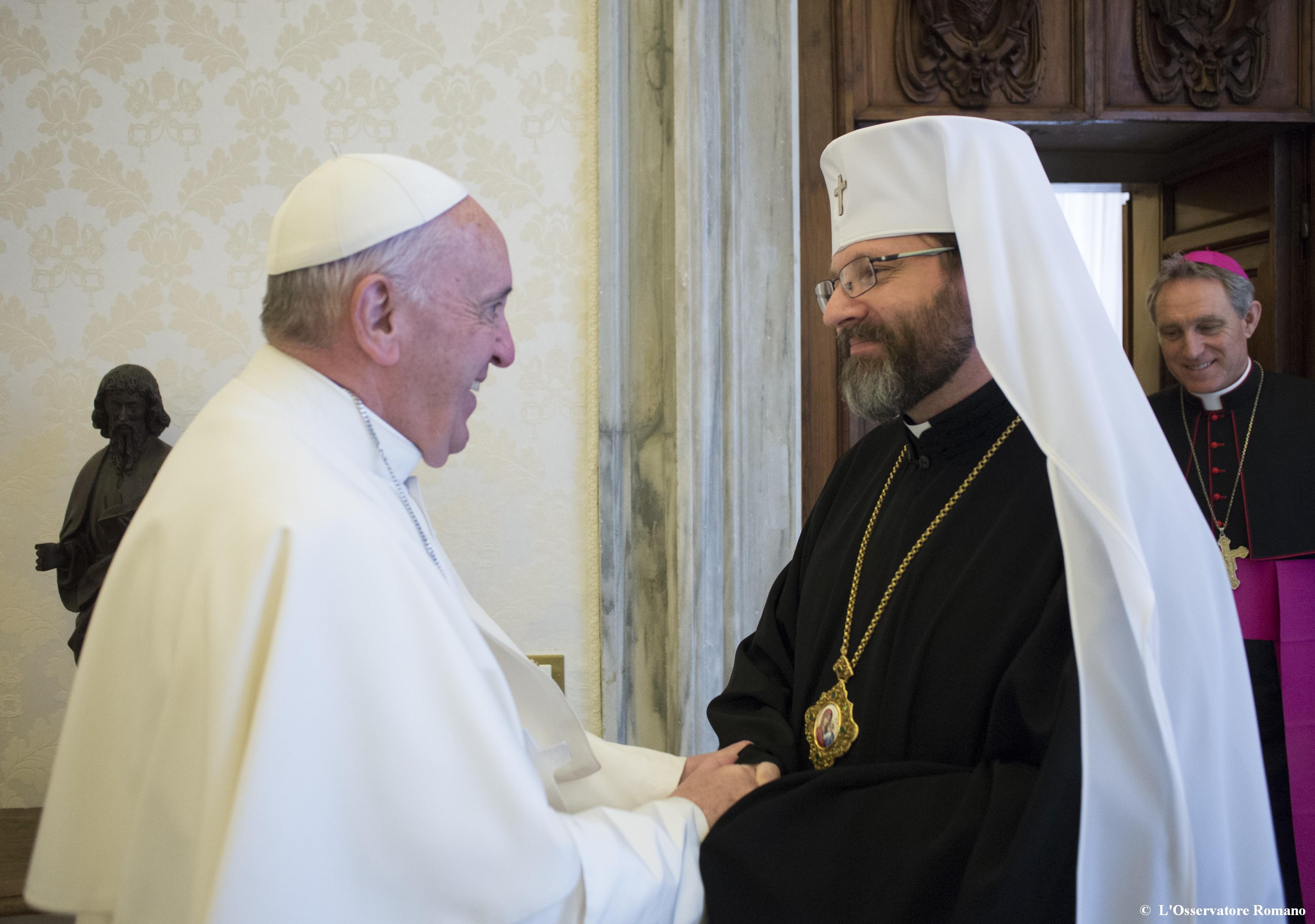 Papa Francesco e Sua Beatitudine Sviatoslav Shevchuk