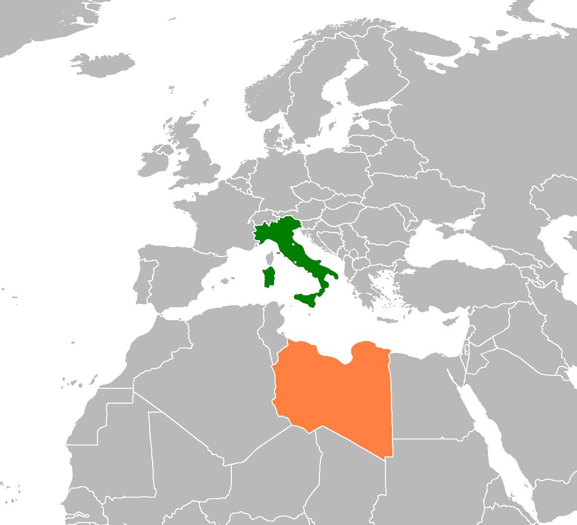 Italy & Libya - Locator