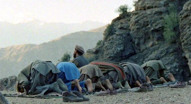 Mujahideen prayer in Afghanistan