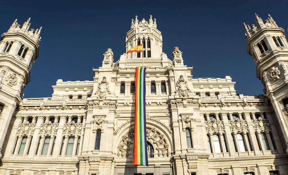 Rainbow Flag in Madrid