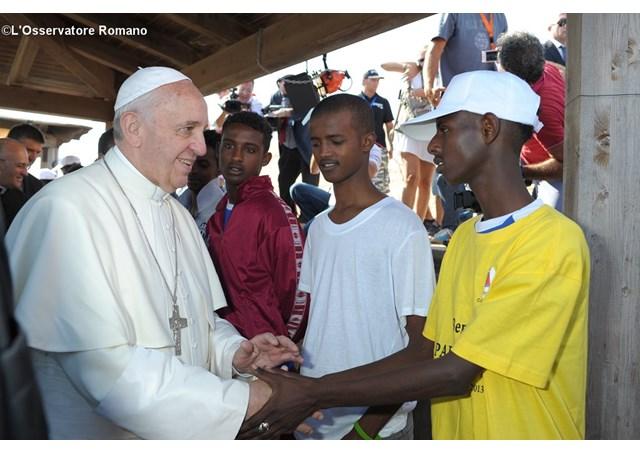 Papa Francesco a Lampedusa (2013)