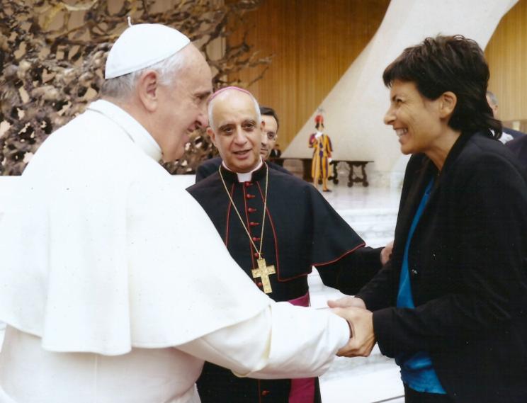 Il Papa con Chiara Amirante
