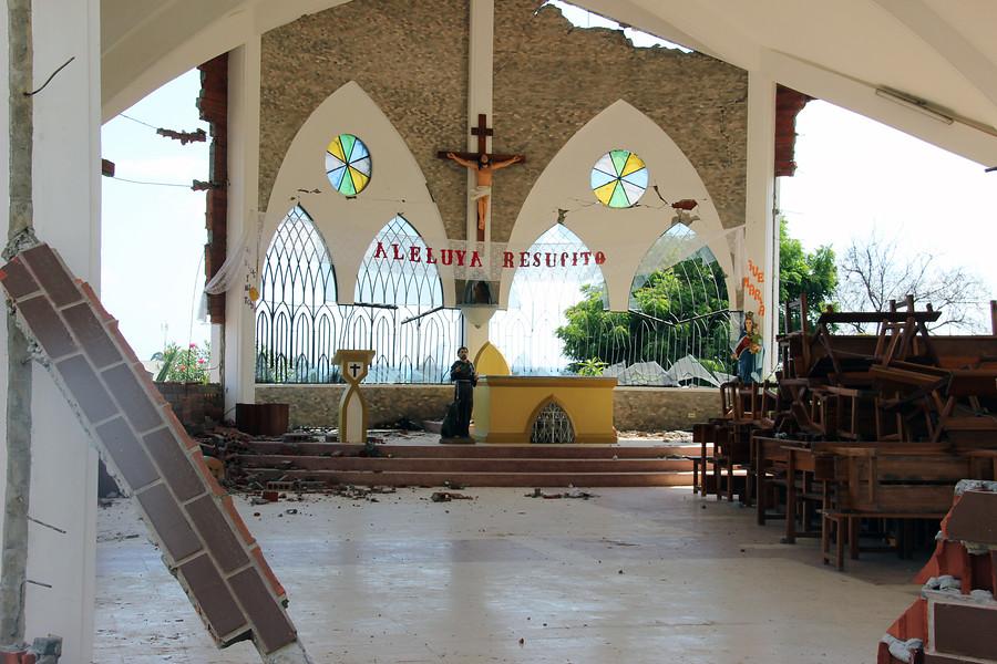 Chiesa danneggiata terremoto Ecuador (foto ACS)