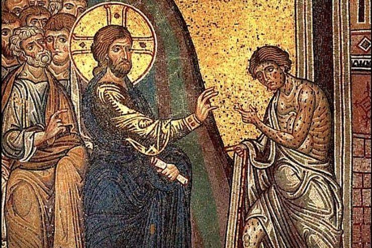 Gesù guarisce un lebbroso - cattedrale di Monreale (Wikimedia Commons)