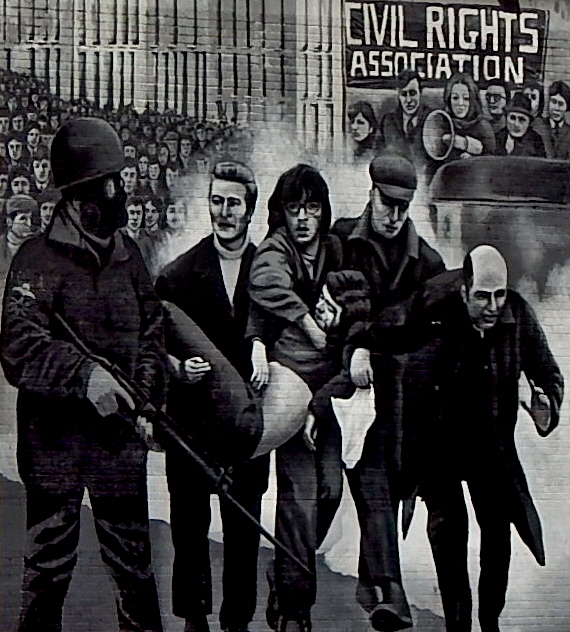 Bloody Sunday, murales, Derry