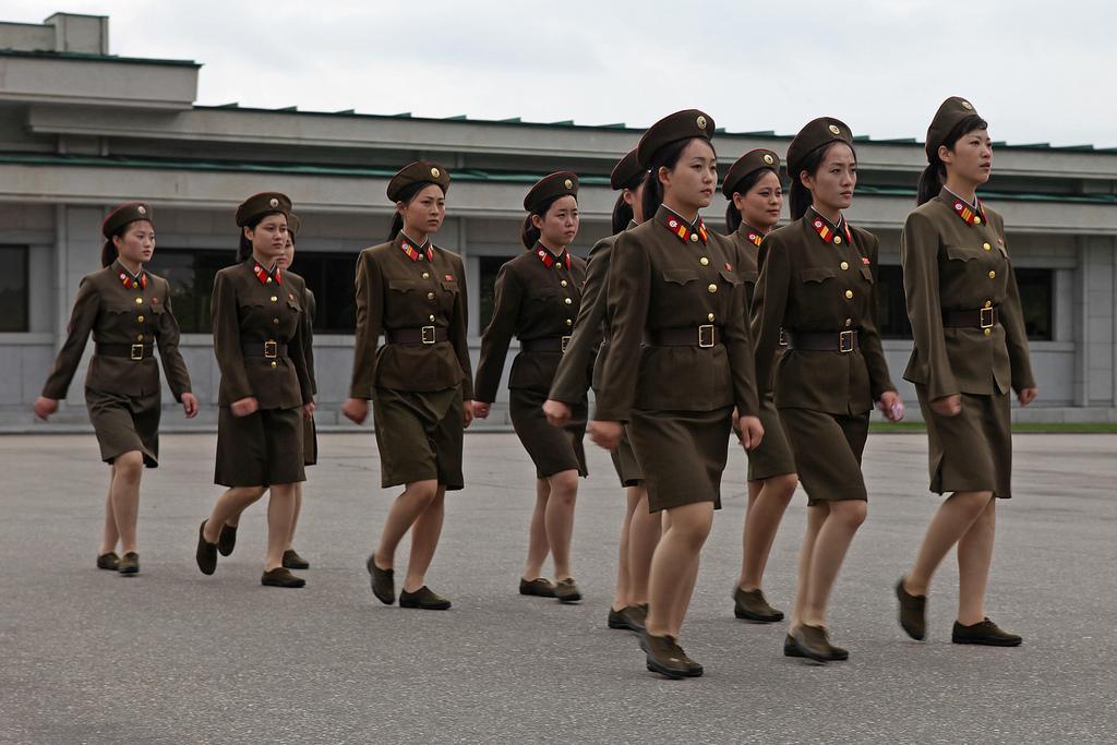 Nord Corea, donne militari - flickr