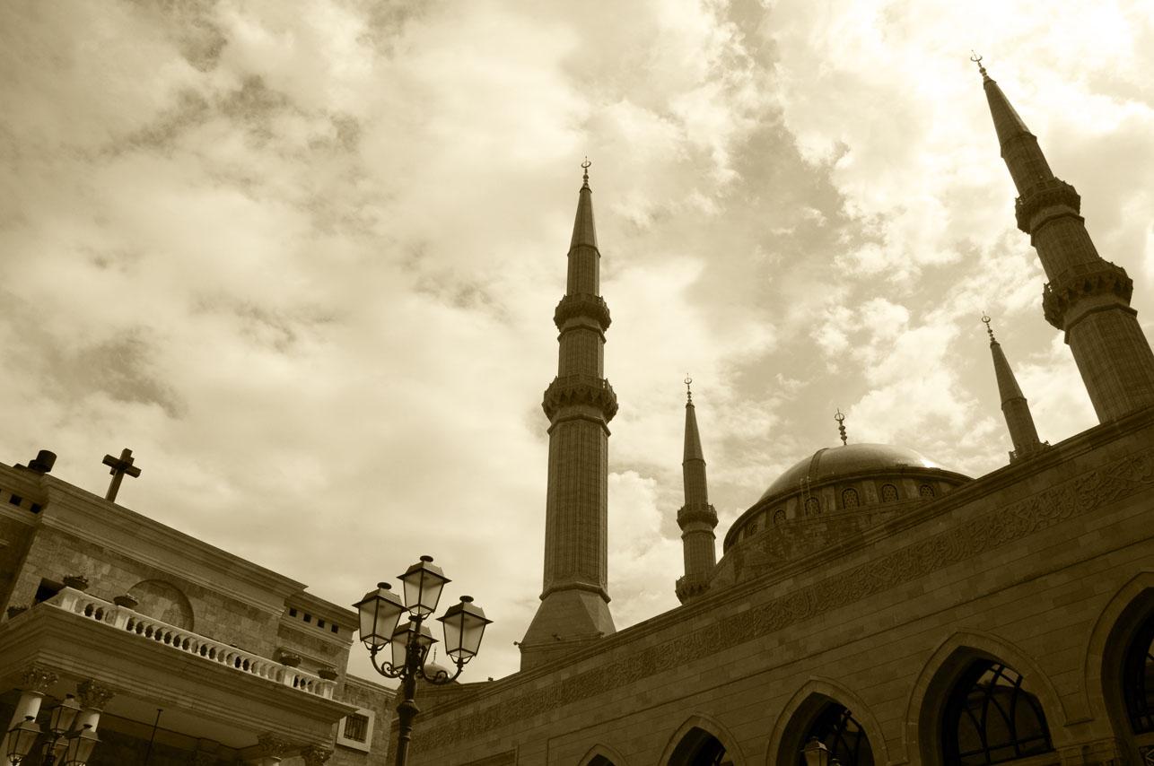 Chiesa e Moschea a Beirut