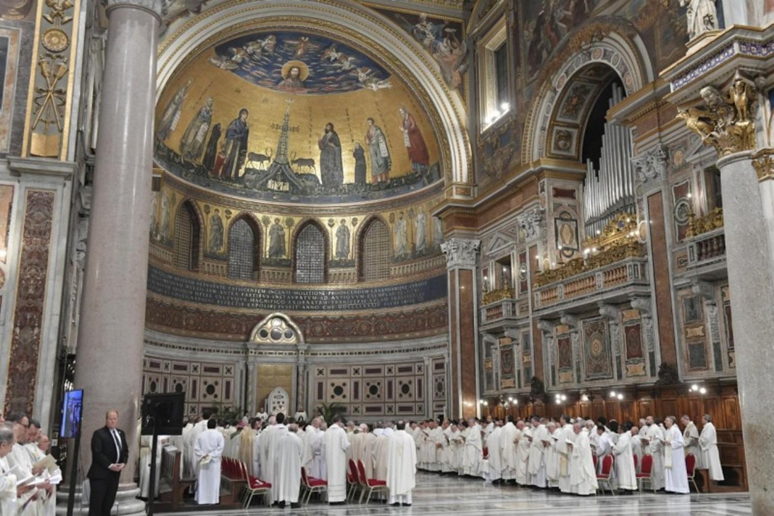 Santa Messa per la festa della Dedicazione della Basilica di San Giovanni in Laterano (09/11/2019) - Foto Copyright Vatican Media